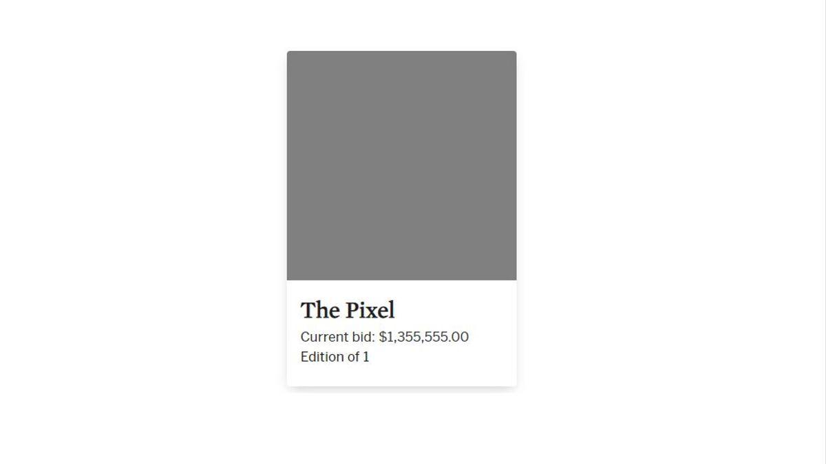 Pixel gris NFT